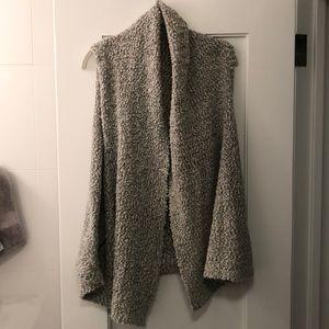 Fleece grey vest
